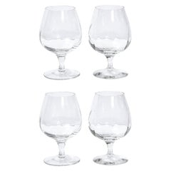 Set of Four Translucent Crystal Brandy Snifter by Tiffany & Co.