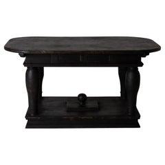 Table Centre Table Swedish Baroque 1650-1750 Black Sweden