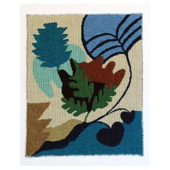 Leaf Study No.5 Woven Tapestry Wall Hanging Abstract Art