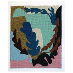 Leaf Study No.3 Woven Tapestry Wall Hanging Abstract Art