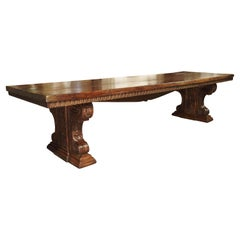Rare Late Italian Renaissance Walnut Wood Dining Table, Circa 1600