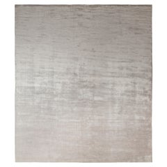 Rug & Kilim's Solid Custom Rug in Gray, Silver Tone-on-Tone