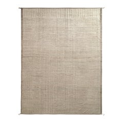 Rug & Kilim's Moroccan Style Rug in White, Beige Brown High-Low Pattern