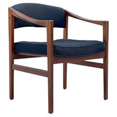 """Midcentury """"Quinn"""" Chair by Edward Wormley for Dunbar, Model 1170, Walnut + Wool"""