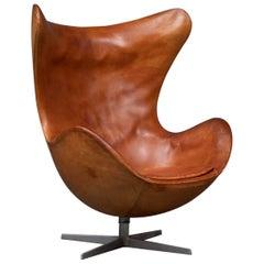 Arne Jacobsen Egg Chair by Fritz Hansen in Denmark, First Serie, 1960