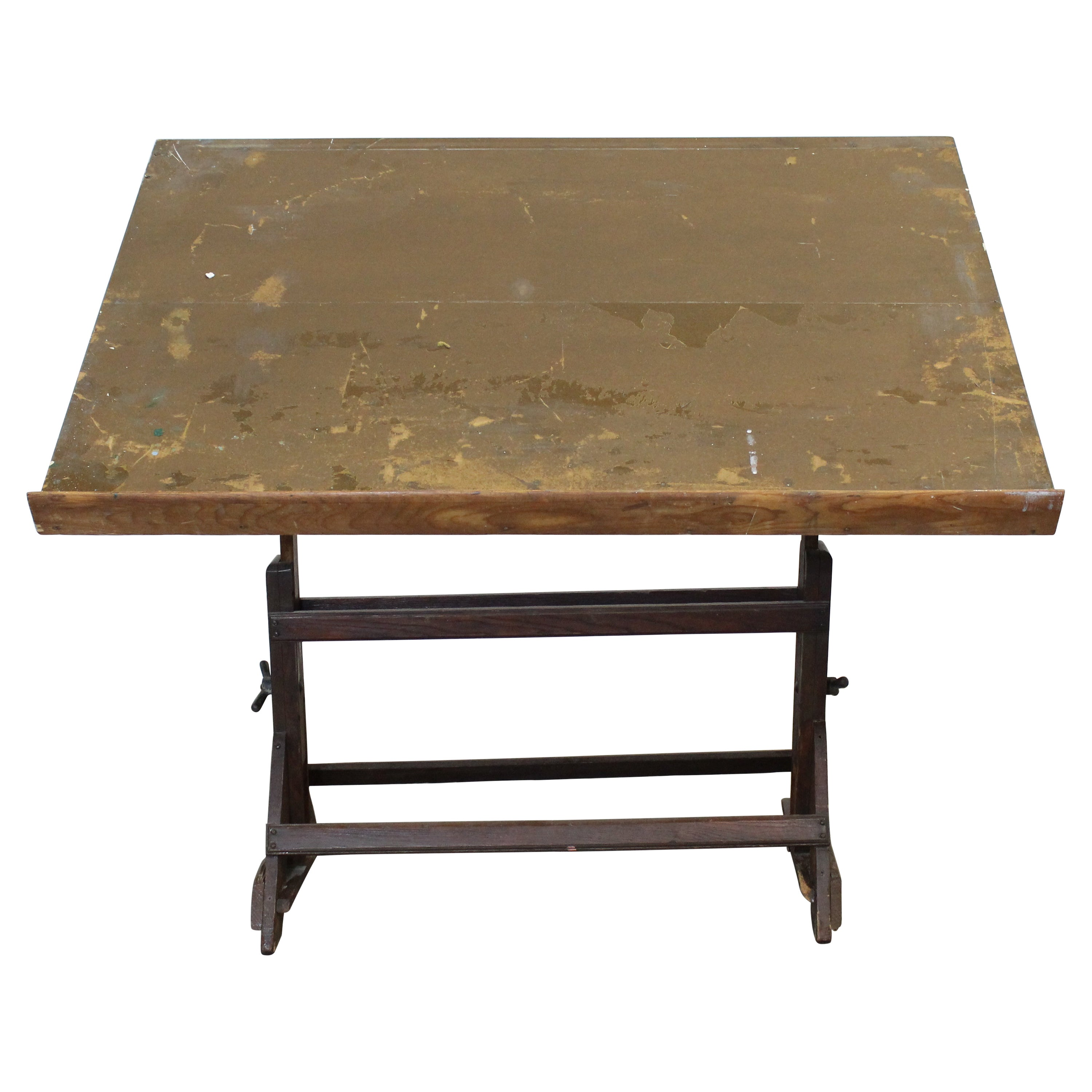 Antique Industrial Drafting Table