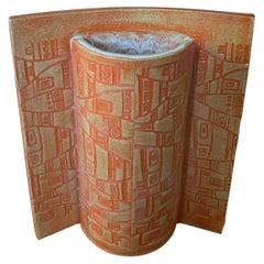 MCM Earthenware Studio Pottery Vase