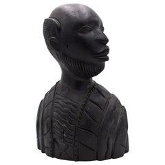 African Iron Wood Man Bust