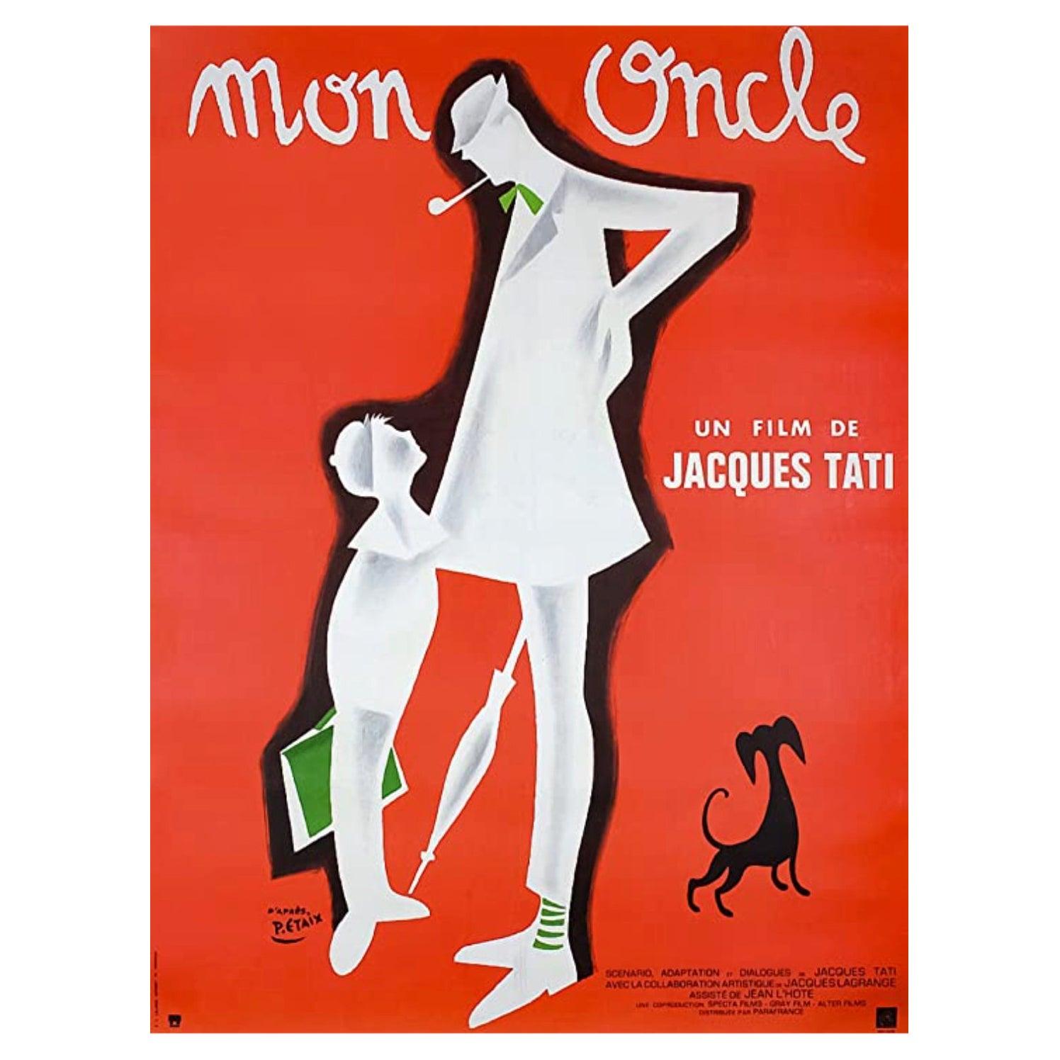 Original Vintage Film Poster, Mon Oncle with Jacques Tati 1959