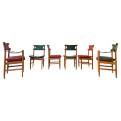 Chairs and Armchairs Italian Design from 1950 in the Style of Gio Ponti