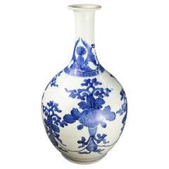 Mid-19th Century, Imari Sake Vase, White and Blue, Edo Period, Art of Japan