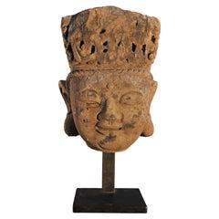 14th Century, Stone Bodhisattva Head, MingDynasty, Art of China