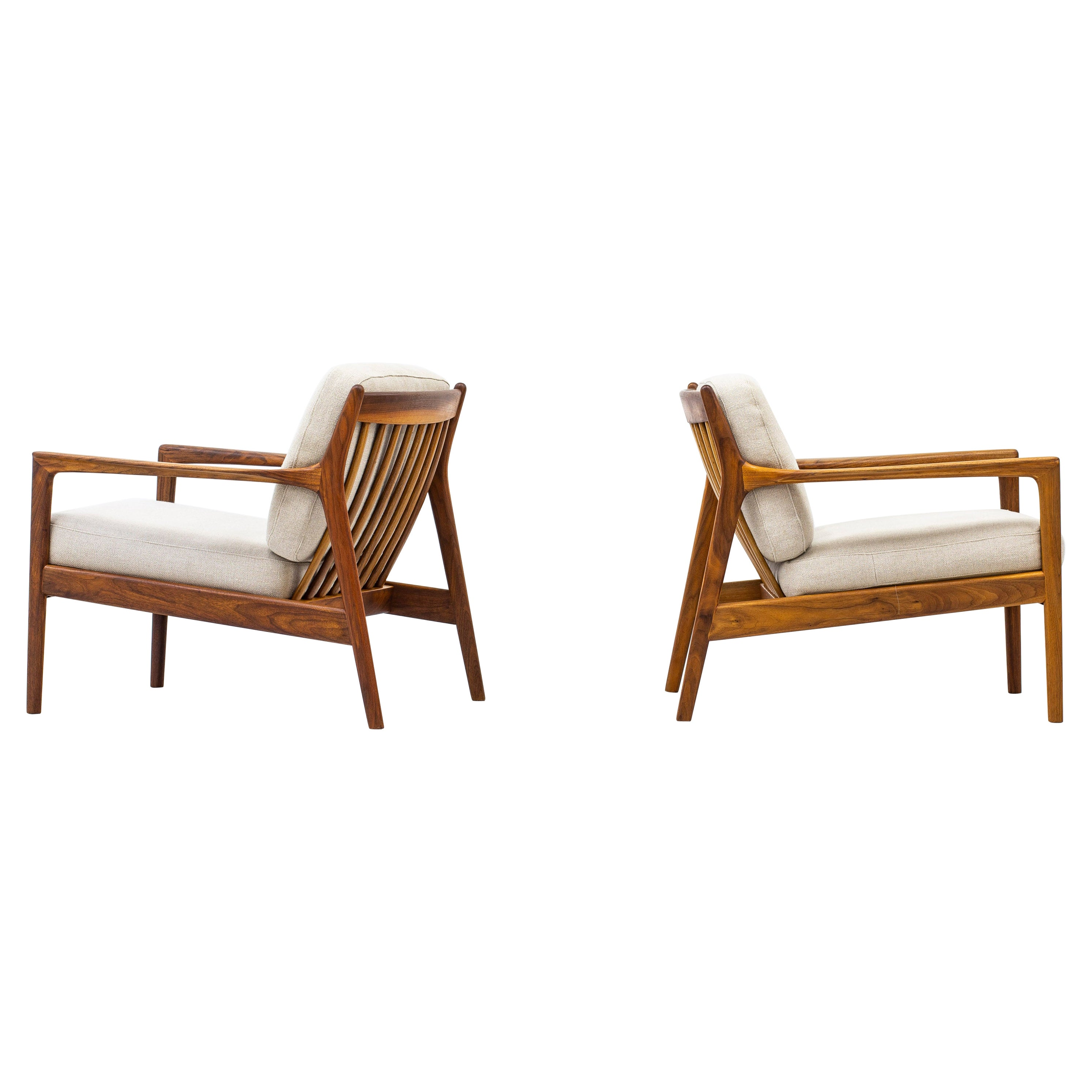 """Lounge Chairs """"USA 75"""" by Folke Ohlsson for Dux, Sweden, 1950s"""