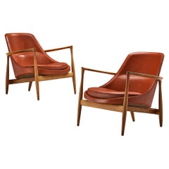 Ib Kofod-Larsen 'Elizabeth' Chairs in Original Leather