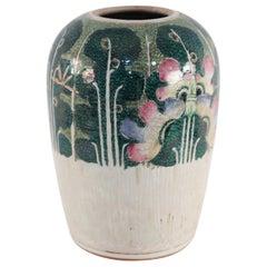 Chinese White and Green Vegetal Winter Melon Porcelain Vase