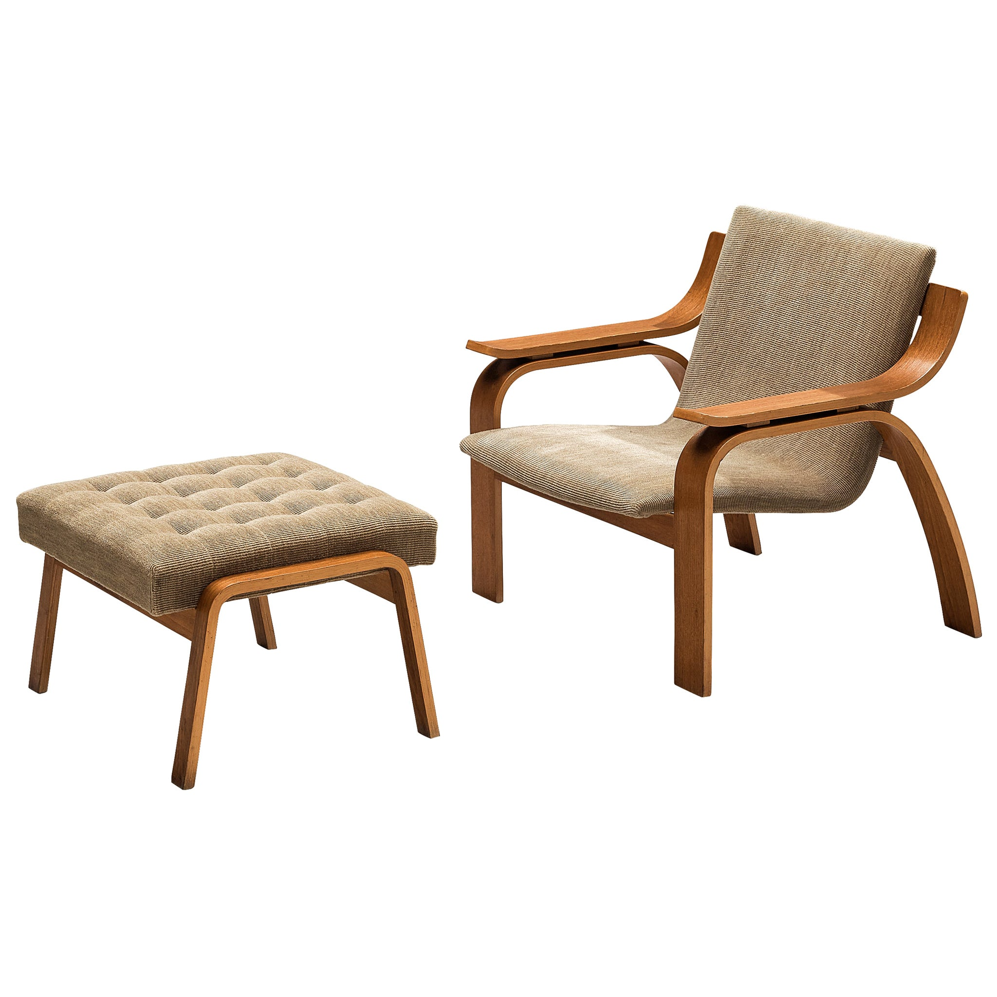 Bentwood Lounge Chair with Ottoman