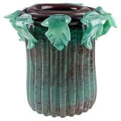 "Bernard Heesen, Freeblown Column Vase, Unica 2003, ""De Oude Horn"" Glassworks"