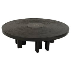 Jean-Claude Dresse Belgian Modern Lacquered Resin Mosaic Coffee Table