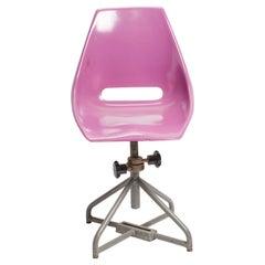 Multicolor Adjustable Fiberglass Chairs, Italy, 1950