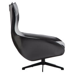 Mario Bellini 'Cab' Lounge Chair, Tubular Steel and Leather Upholstery
