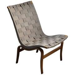 "Mid Century Swedish Easy Chair by Bruno Mathsson, Model ""Eva"" for Karl M, 1960s"