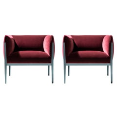 Ronan & Erwan Bourroullec 'Cotone' Armchair Set, Aluminum and Fabric by Cassina