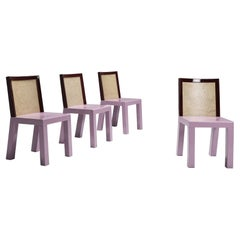 Postmodern Ettore Sottsass Pink Dining Chairs for Leitner