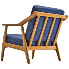 Danish Midcentury Armchair in Solid Oak