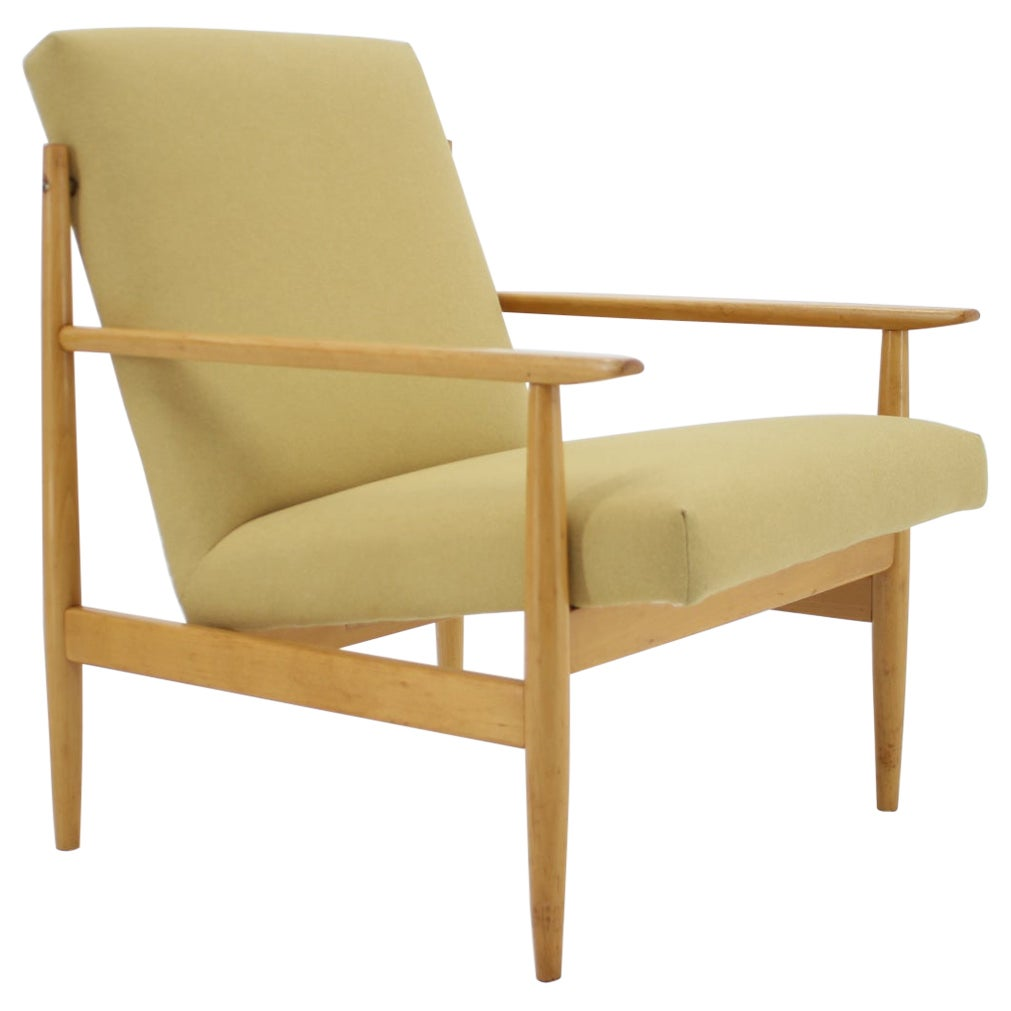 1960s Beech Armchair, Czechoslovakia