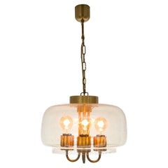 Elegant Pendant in Glass and Brass