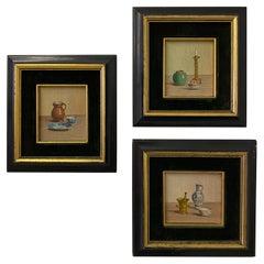 Set of 3 Miniature Still Life Paintings
