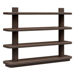 Contemporary Leather Bookcase Scala by Stephane Parmentier for Giobagnara