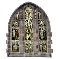 Victorian Religious Antique Stained Glass Window