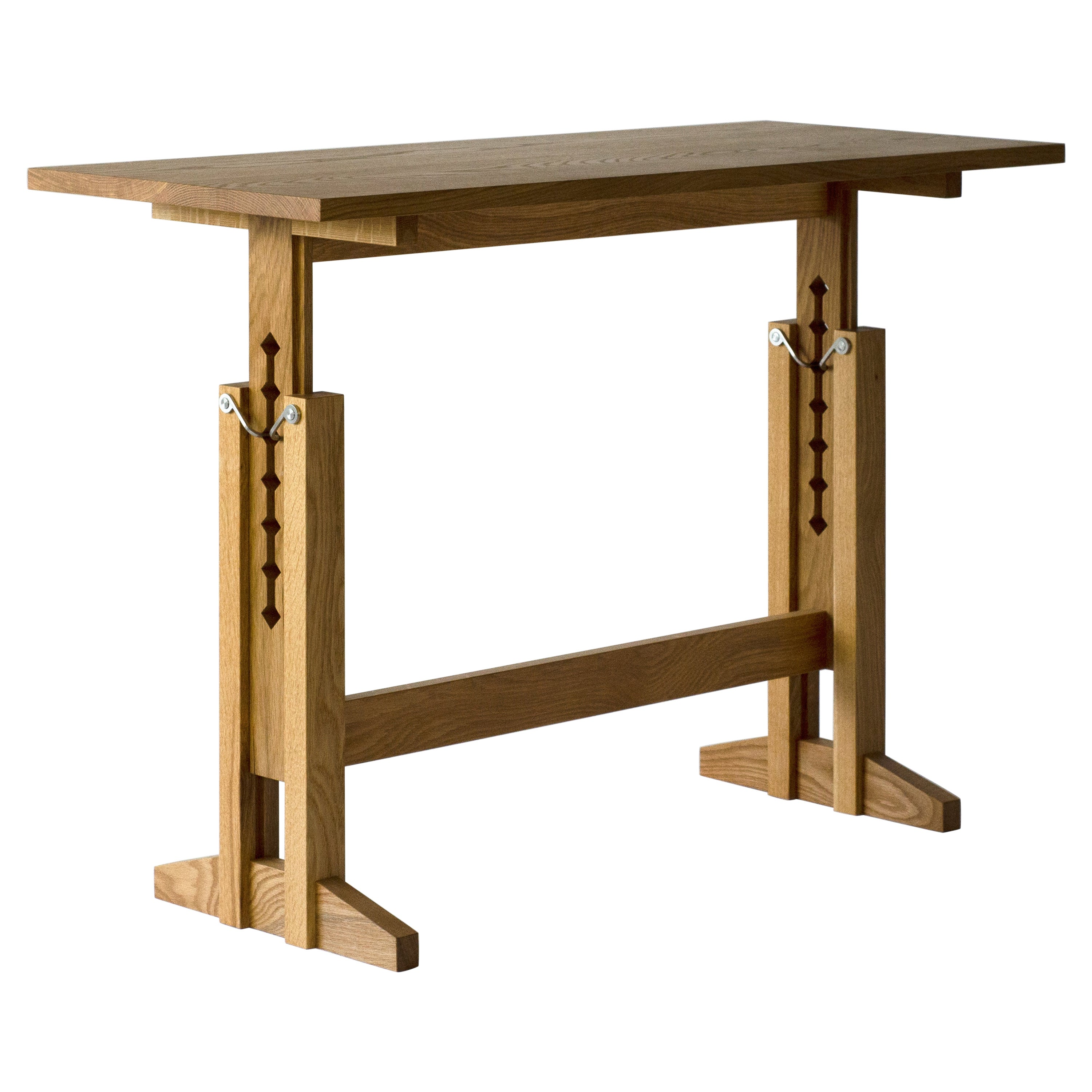 """Contemporary Sitting Standing """"Work"""" Desk in Solid White Oak by Casey Lurie, USA"""