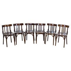 20th-Century Bentwood Beech Chairs in the Thonet Type in Dark Brown