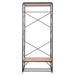 Temple of Dream, a Freestanding Hanging Storage Cabinet, Solid Walnut Shelves
