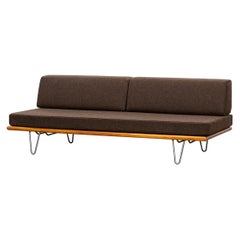 1950s Grey Fabric on Metal Legs Daybed by George Nelson