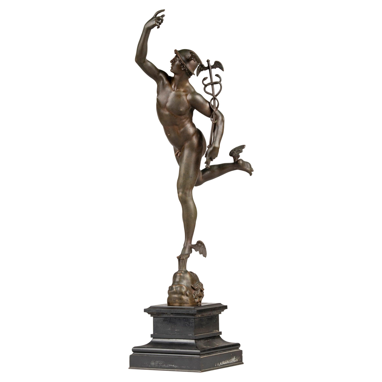 19th Century Bronze Statue of Mercury / Hermes by Ferdinand Barbedienne