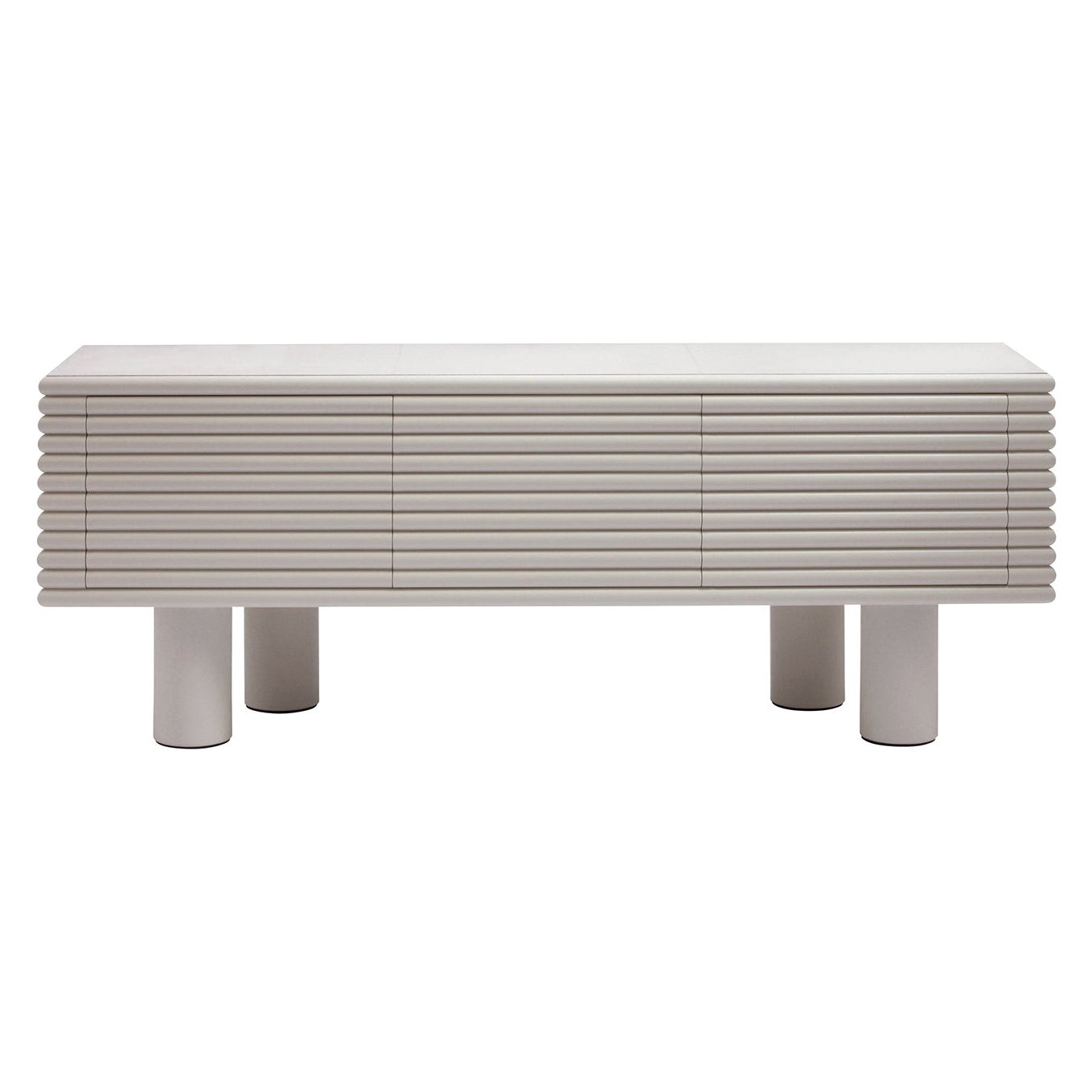 Contemporary Leather Sideboard Scala by Stephane Parmentier for Giobagnara