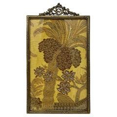 Antique French Gold Bronze Desktop Picture Frame, Circa 1890's-1910
