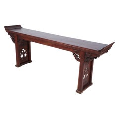 Chinese Carved Wooden Altar Table / Console