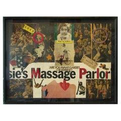 Woodstock Era Titillating Avant-Garde Collage Assemblage