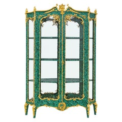 Neoclassical Style Malachite and Ormolu Display Cabinet