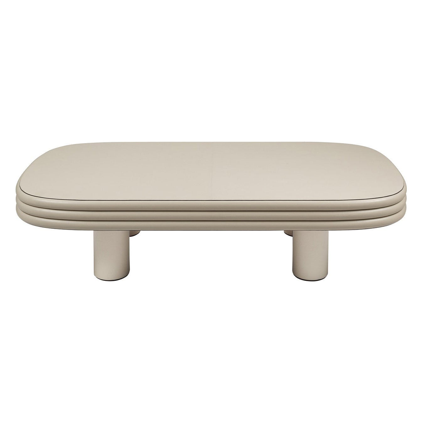 Rectangular Leather Coffee Table, Scala by Stephane Parmentier for Giobagnara