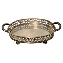 Reed and Barton Silver Gallery Tray with Handles