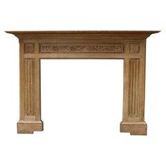 Carved Oak Antique Mantel