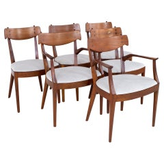 Kipp Stewart for Drexel Mid Century Dining Chairs, Set of 6