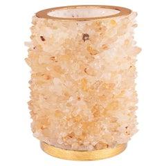 Medium Frozen Vase, Small Quartz Points