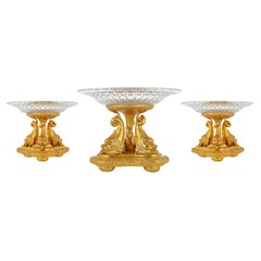 French Empire Style Dolphin Centre Piece Garniture