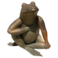 Patinated Bronze Sculpture/Figure of a Frog
